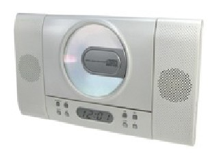 Super Slim Stereo CD Radio with Digital Alarm Clock
