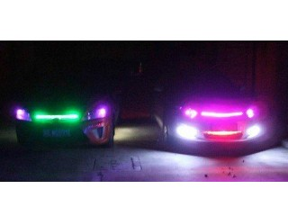New 7-Color 5050 LED Knight Rider Strip Light Under Hood Scanning + Remote Waterproof Flexible 130 P