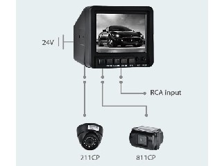 "4.5"" CRT B & W Rearview System (CS045A)"