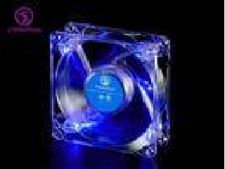 80mm Blue LED Computer Case Cooling Fans 80*80*25 mm , DF08025