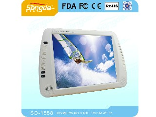 15 inch Portable DVD player with USB SD-1558
