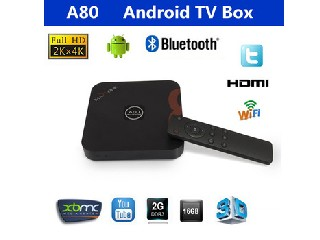Original A80 Cota Core 4K*2K 2GB/16GB Android TV BOX Cortex A15/A7 DLNA 2.4GHZ/5.8GHZ wifi HDMI Blue