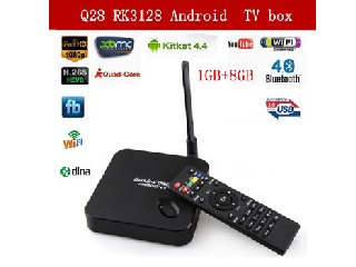XBMC Quad-Core Android TV box 1.3GHZ 1G/8G ROM RK3128 3D Smart Media Player Support H.265 Wi-Fi Blue