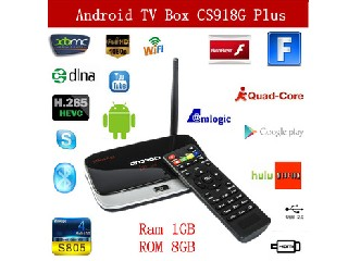 Vensmile CS918-G Plus Amlogic S805 Quad Core Android TV Box 1G/8G WIFI H.265 Hardware Decode Bluetoo