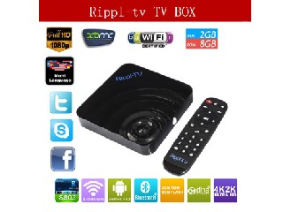 2015 New Rippl-TV Smart TV XBMC Quad Core Android TV Box UtilOS Edition 4K Mali450 Amlogic S802 2G/8