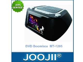 Portable DVD boombox with 7