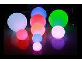 IP65 16 Color Changing LED Night Light Battery Operated / LED Floating Ball