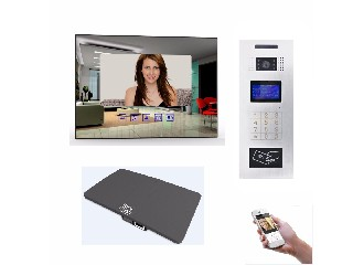 CAT5 One Cable System Video Door Phone for Multi Apartment with Mobile APP for Remote Access Control